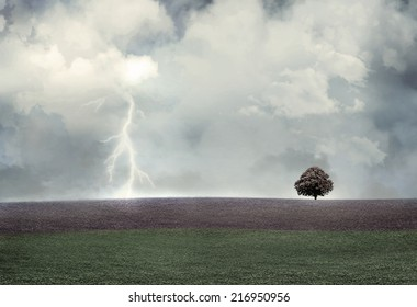 A background of a natural landscape in a gloomy day
