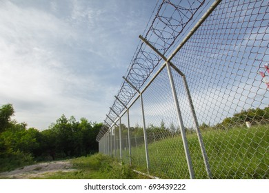 Background Net Wall Metal  Phuket International Airport