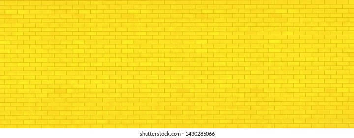 Background of new  yellow brick wall texture