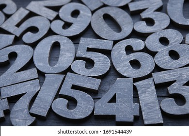 Background of numbers. from zero to nine. Numbers texture. Finance data concept. Matematic. Seamless pattern with numbers. financial crisis concept. Business success.