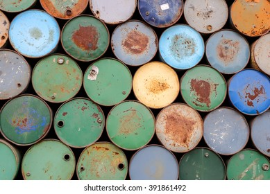 background of oil tanks stacked in a row