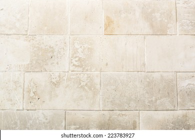 background with old antique brick wall. Pastel color cream