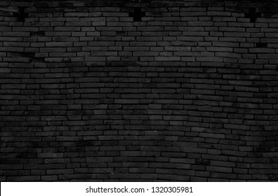 Background of old black brick wall - image