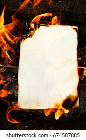 Background from an old burning paper