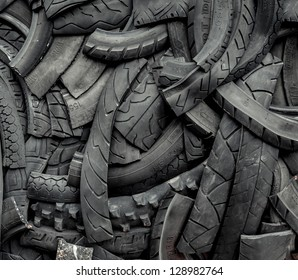 Background of old car tires