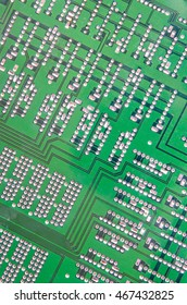 background of old electronic circuits