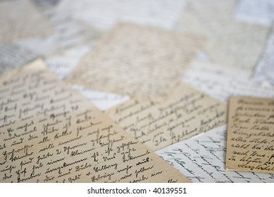 background of old handwritten letters