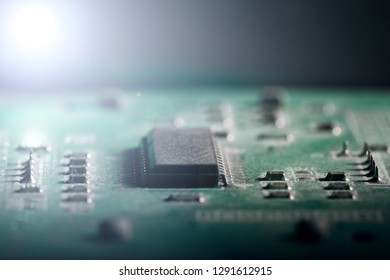 Background old microcircuit