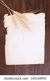Background of old paper & rye