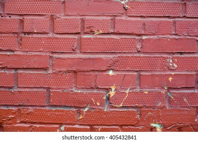 background of old red brick wall pattern texture.