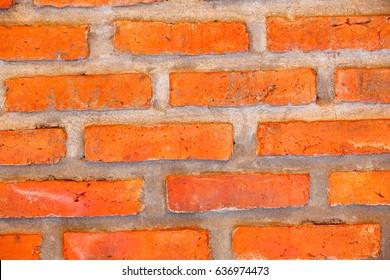 Background old vintage brick wall.