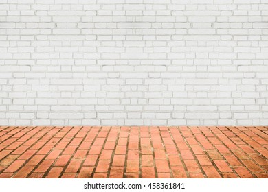 Background of old vintage brick wall,red brick wall background,Decorative red brick wall surface for background