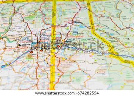Background On Map United States Closeup Stock Photo Edit Now - Us-map-close-up