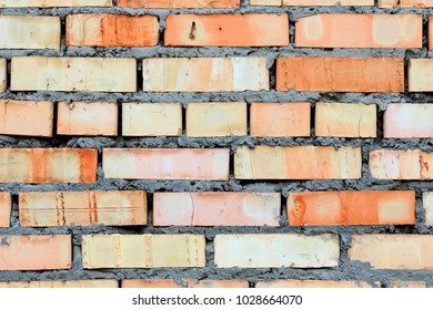 Background on an old yellow brick wall
