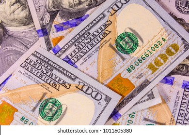 Background of the one hundred dollar bills