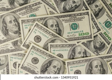 Background of the one hundred dollars bills