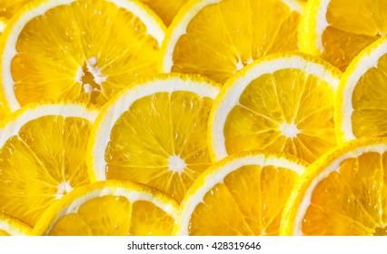 Background of orange slices.