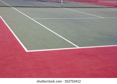 Background of outdoor tennis court with nobody