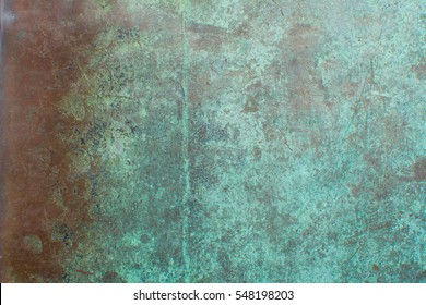 background oxidised copper sheet