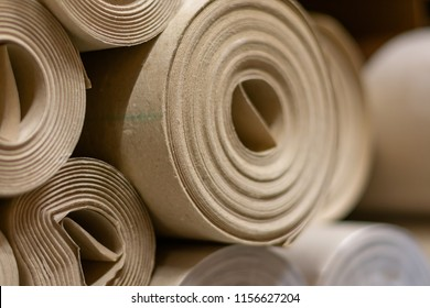 Background from paper rolls. Cardboard roll paper