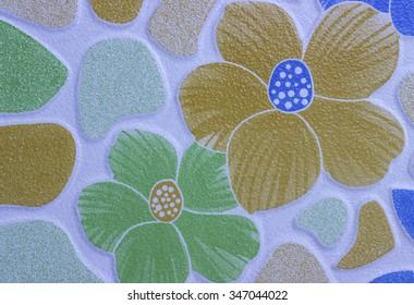 Background pattern floor tiles