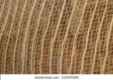 Background pattern of jute netting