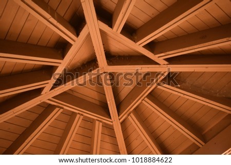 Background Pattern Roof Trusses Forming Star Stock Photo Edit Now