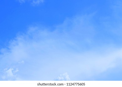 Background Pattern, Summer Blue Sky with Small White Clouds with Copy Space for Text Decorated.