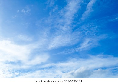 Background Pattern, Summer Blue Sky with Tiny White Clouds with Copy Space for Text Decorated.