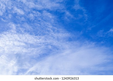 Background Pattern, Summer Blue Sky with White Clouds with Copy Space for Text Decorated.