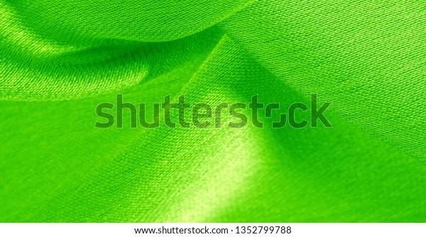Background Pattern Texture Wallpaper Green Silk Stock Image