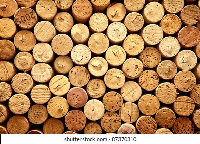 Background pattern of wine bottles corks