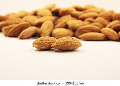 Background of peeled almonds