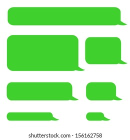 background phone sms chat bubbles in green colors