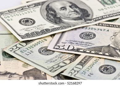 background photo of many dollars banknote