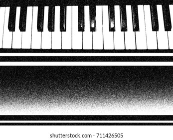 background piano keys with Black gradient