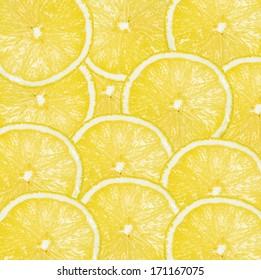 background, pieces of lemon yellow, macro