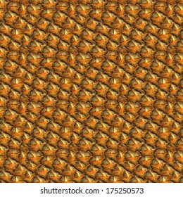 Background - a pineapple bark. Seamless pattern.