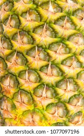 Background of a pineapple in closeup