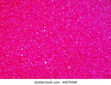 Background of pink sugar crystals
