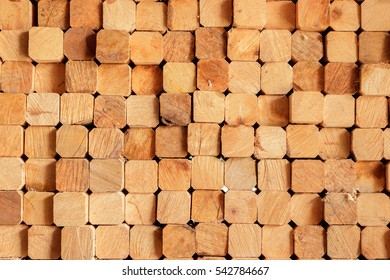Background of place the rectangular timber stacked.