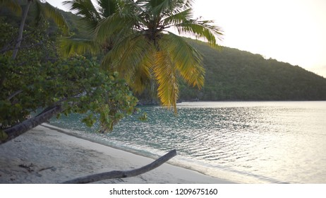 Background Plate of A peninsula surrounding a Caribbean bay for green screen
