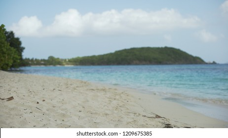 Background Plate of Sand-level shot of the Caribbean shoreline for green screen