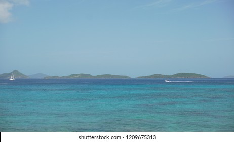 Background Plate of Seascape of the Caribbean for green screen