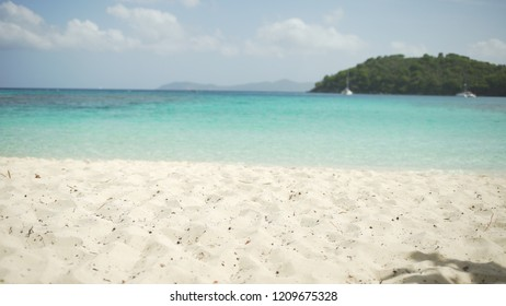 Background Plate of Shot of the Caribbean tide coming in for green screen