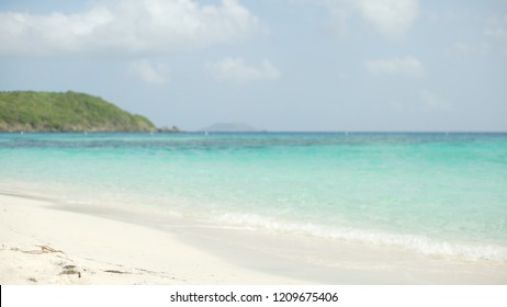 Background Plate of View from the white sandy shore for green screen