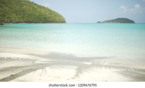 Background Plate of Waves crashing on the Caribbean shore for green screen