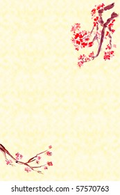Background with Plum Blossom -Traditional Chinese Painting