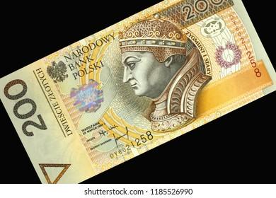 Background from Polish zloty