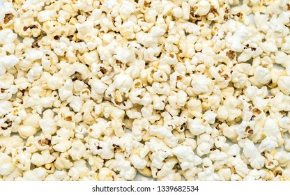 Background with popcorn
